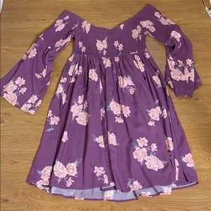 Torrid Plus Size 00 Purple and Pink Floral Dress